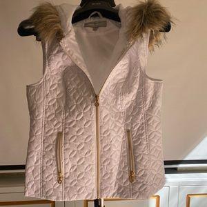 Marc New York, Andrew Marc white vest w fur hood